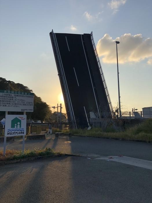 高知県香南市  『日本で見ても珍しいそびえ立つ橋』手結港可動橋_d0337795_23372051.jpeg