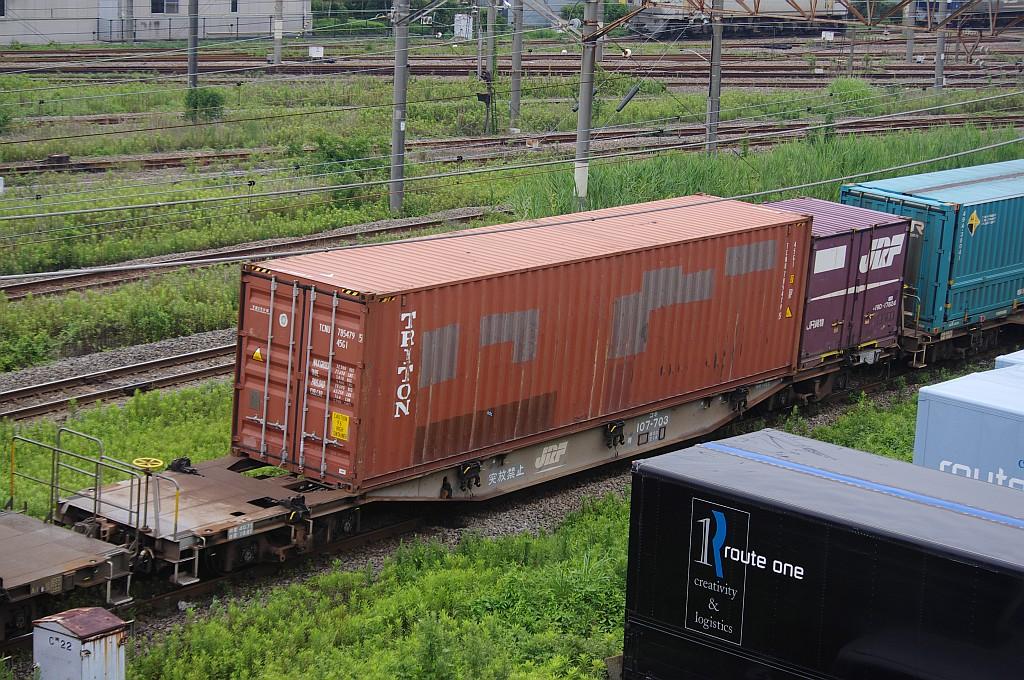 7/20東京貨物ターミナルにて4072レのコキとコンテナ_f0203926_22291616.jpg