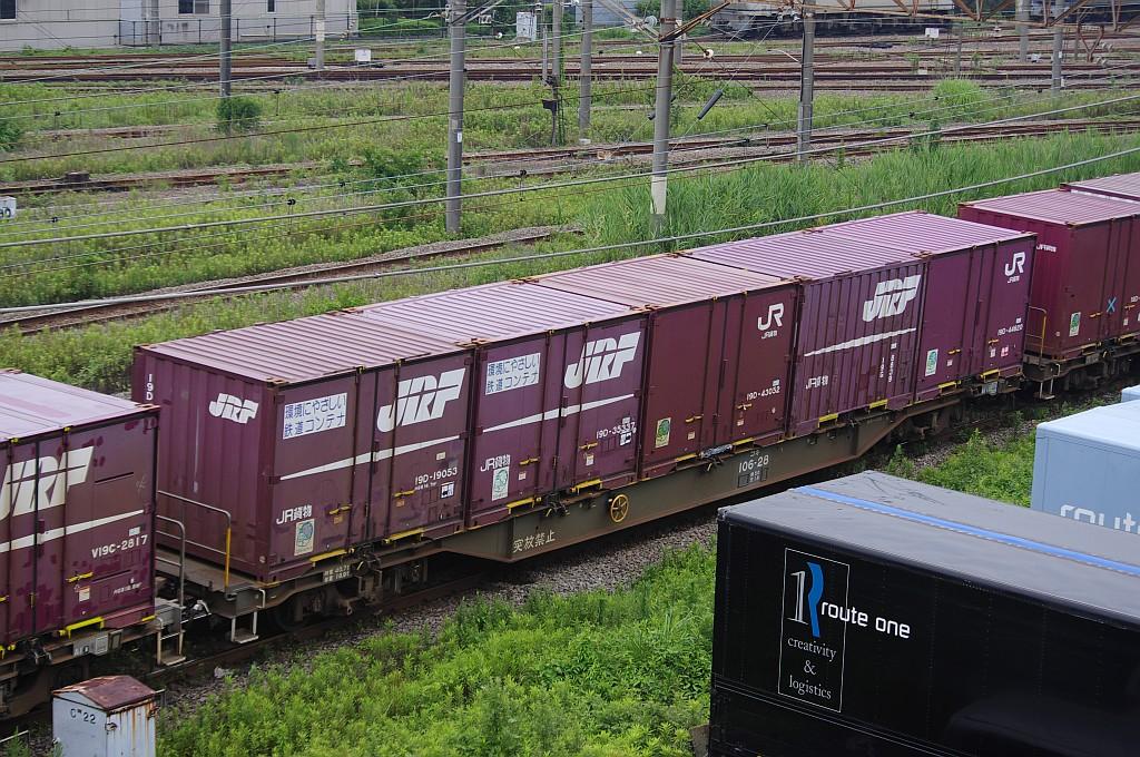 7/20東京貨物ターミナルにて4072レのコキとコンテナ_f0203926_22303931.jpg