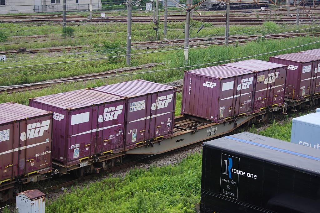 7/20東京貨物ターミナルにて4072レのコキとコンテナ_f0203926_22304995.jpg