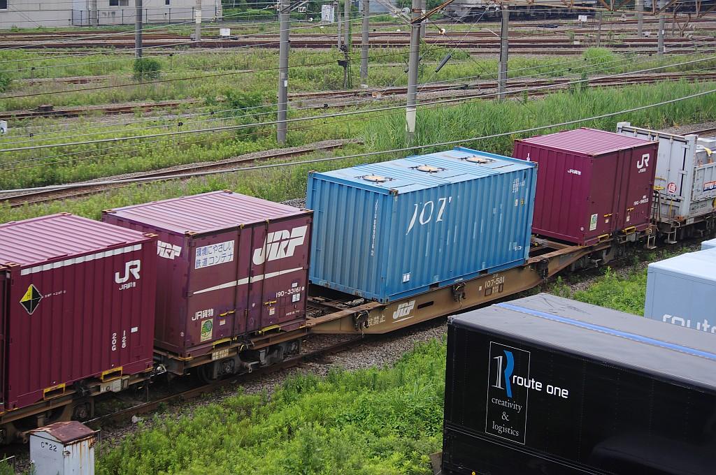 7/20東京貨物ターミナルにて4072レのコキとコンテナ_f0203926_22311642.jpg