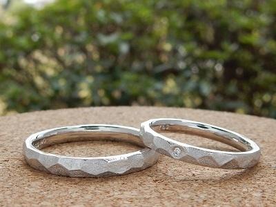 鎚目模様の結婚指輪   岡山_d0237570_15220198.jpg