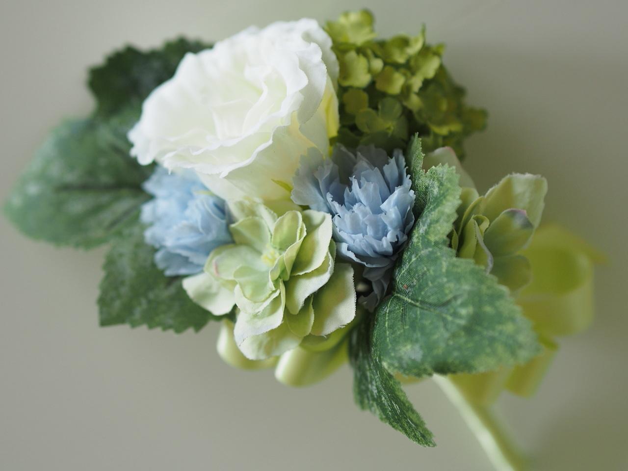 クラッチブーケ【Green&Blue】_d0144095_13401127.jpg