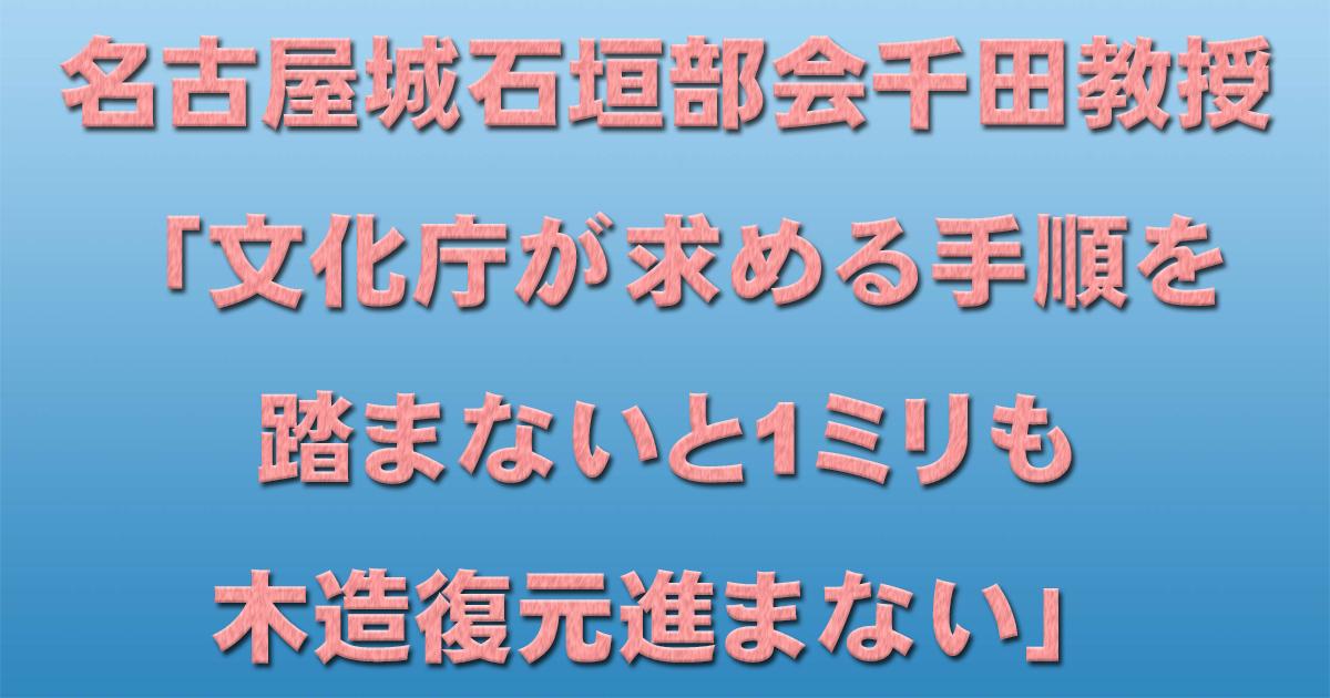 名古屋城石垣部会千田教授「文化庁が求める手順を踏まないと1ミリも木造復元進まない」_d0011701_18240145.jpg