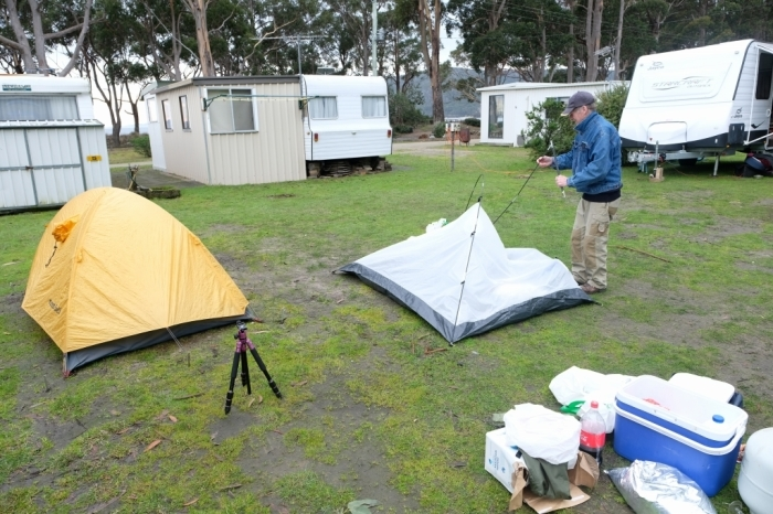 キャンプの朝 Bluny Island  Tasmania  6月28日_f0050534_23203376.jpg