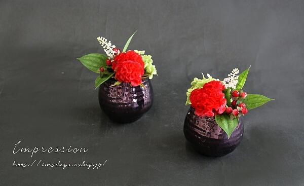 定期装花から ケイトウ:サカタプライド_a0085317_03435371.jpg