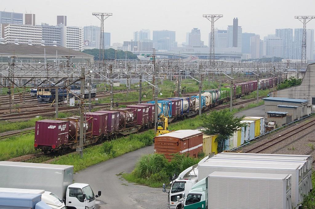 7/20東京貨物ターミナルにて2092レのコキとコンテナ_f0203926_22345534.jpg