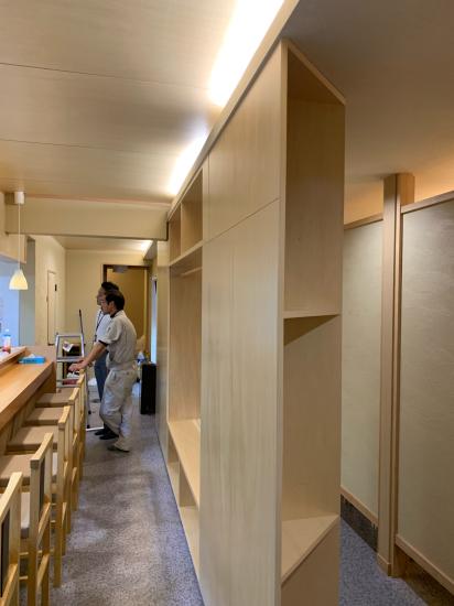 栄町のお寿司屋さん 建具、家具工事_f0053665_20413590.jpg