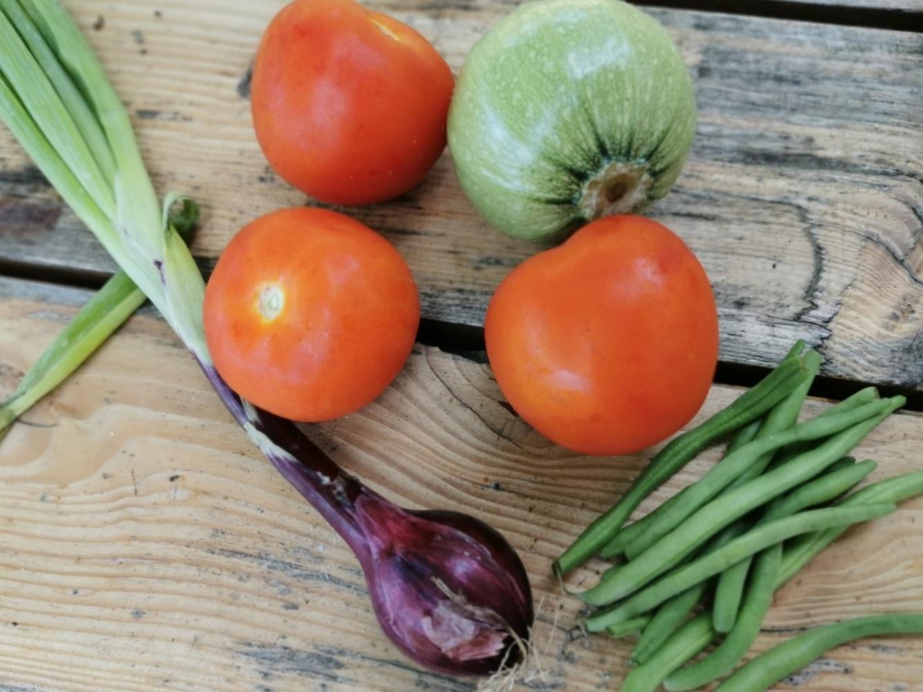 夏野菜の手打ちパスタ_f0106597_05501486.jpg