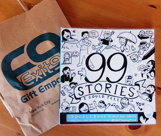99 Stories I Could Tell: A Doodlebook To Help You Create(私が話せる99の物語り:物語作りを助けるイタズラ書き帳)_b0007805_04014730.jpg