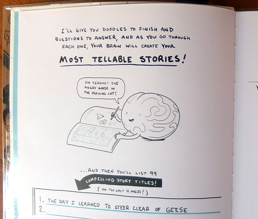 99 Stories I Could Tell: A Doodlebook To Help You Create(私が話せる99の物語り:物語作りを助けるイタズラ書き帳)_b0007805_04233223.jpg