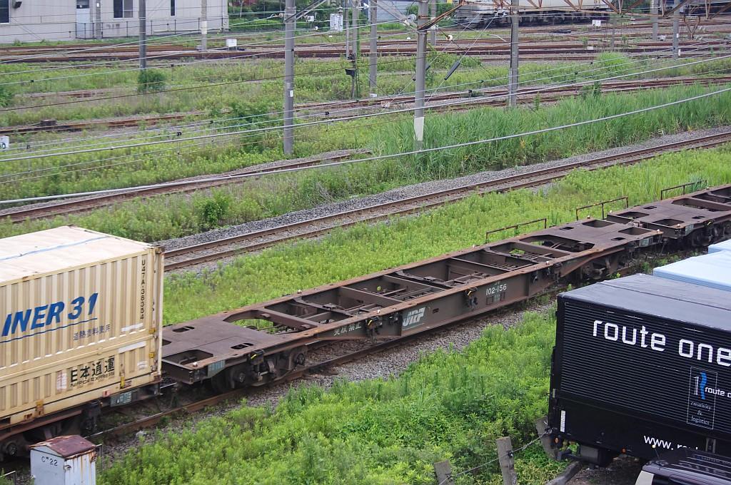 7/20東京貨物ターミナルにてSGS60レのコキとコンテナ_f0203926_22412932.jpg