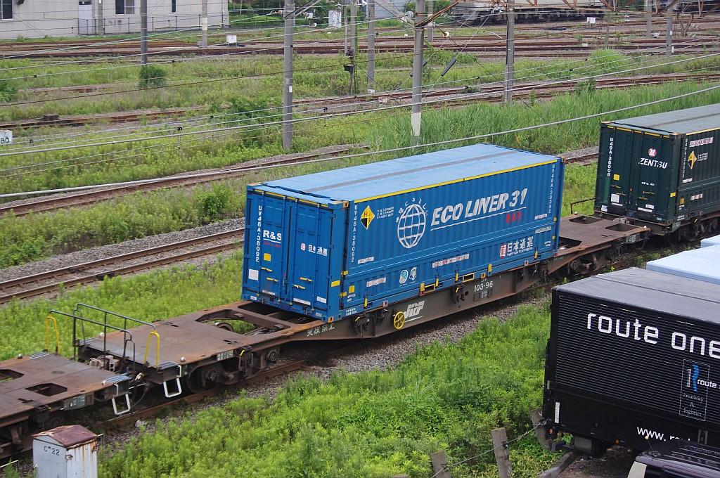 7/20東京貨物ターミナルにてSGS60レのコキとコンテナ_f0203926_2241516.jpg