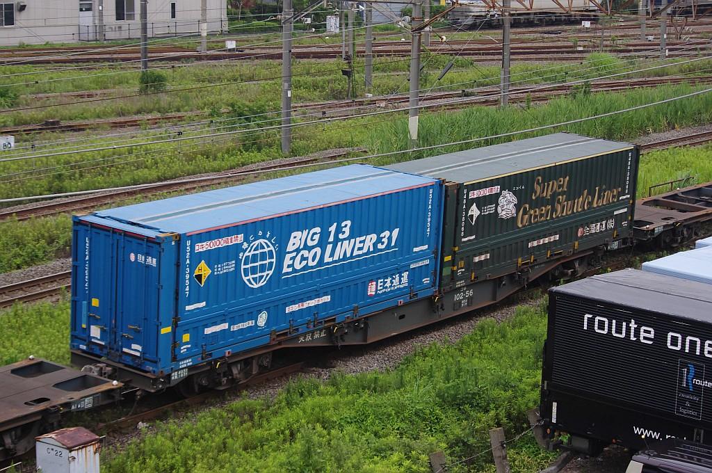7/20東京貨物ターミナルにてSGS60レのコキとコンテナ_f0203926_2242098.jpg
