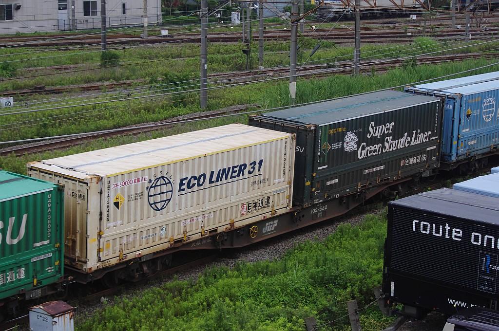 7/20東京貨物ターミナルにてSGS60レのコキとコンテナ_f0203926_22424159.jpg