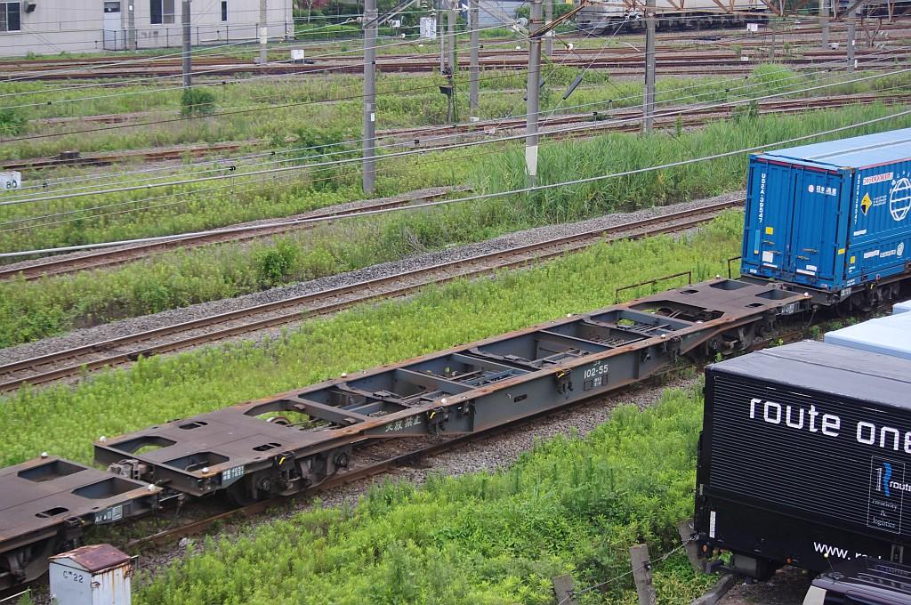 7/20東京貨物ターミナルにてSGS60レのコキとコンテナ_f0203926_2242821.jpg