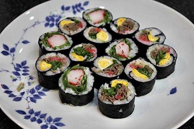 サラダキンパと鴨ローストサラダ、夏野菜のかき揚げ。_a0223786_15072293.jpg