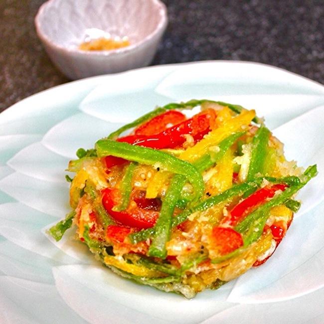サラダキンパと鴨ローストサラダ、夏野菜のかき揚げ。_a0223786_15153052.jpg