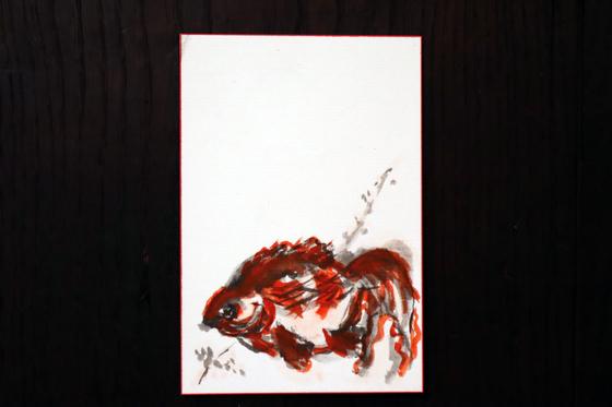 水墨画 ~ 金魚 ~_e0222340_14444178.jpg