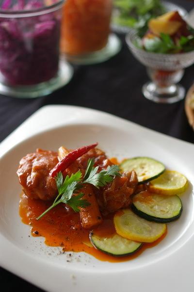 鶏もも肉のアラビアータ_d0327373_18073254.jpg