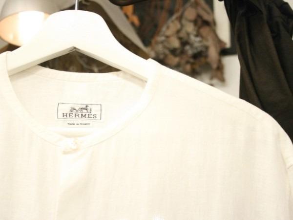 ちゃんとしたショップカード、作ります!! 入荷HERMES/エルメス リネンシャツ、ポケットTシャツ、Tシャツ_f0180307_01102193.jpg