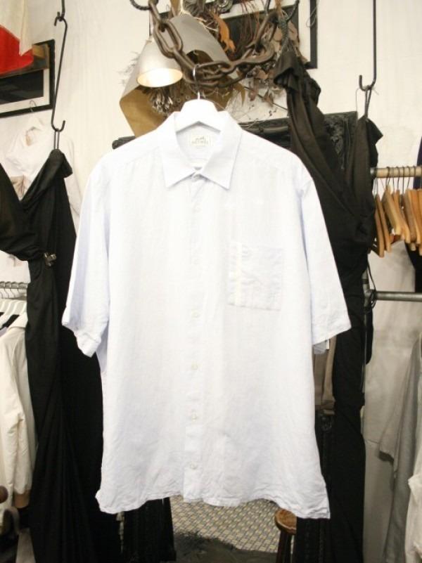 ちゃんとしたショップカード、作ります!! 入荷HERMES/エルメス リネンシャツ、ポケットTシャツ、Tシャツ_f0180307_01141661.jpg