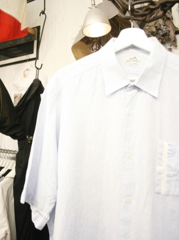 ちゃんとしたショップカード、作ります!! 入荷HERMES/エルメス リネンシャツ、ポケットTシャツ、Tシャツ_f0180307_01141784.jpg