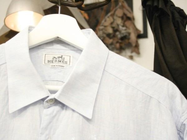 ちゃんとしたショップカード、作ります!! 入荷HERMES/エルメス リネンシャツ、ポケットTシャツ、Tシャツ_f0180307_01141857.jpg