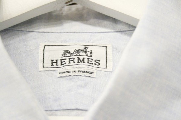 ちゃんとしたショップカード、作ります!! 入荷HERMES/エルメス リネンシャツ、ポケットTシャツ、Tシャツ_f0180307_01142142.jpg