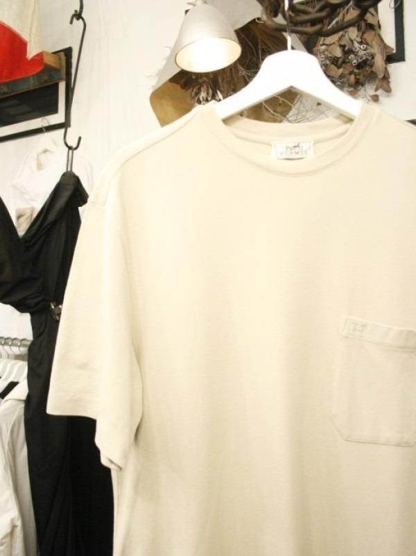 ちゃんとしたショップカード、作ります!! 入荷HERMES/エルメス リネンシャツ、ポケットTシャツ、Tシャツ_f0180307_01211500.jpg