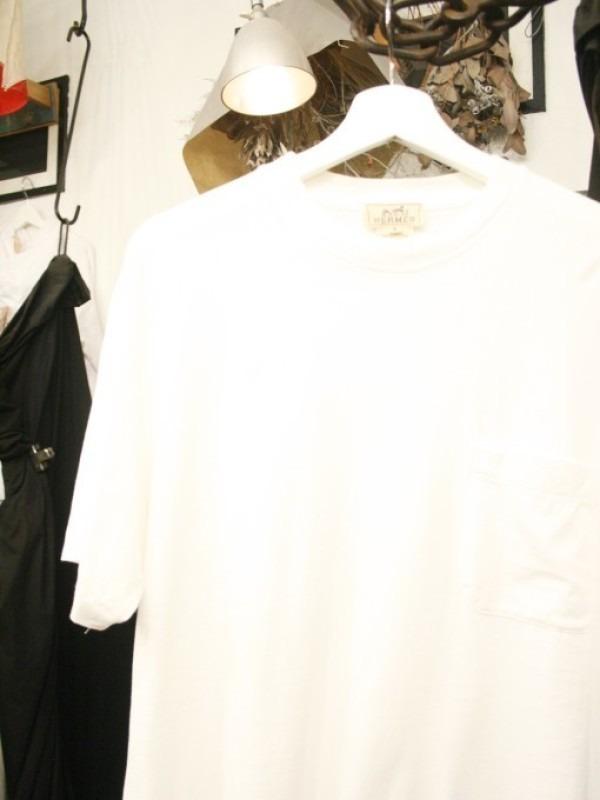 ちゃんとしたショップカード、作ります!! 入荷HERMES/エルメス リネンシャツ、ポケットTシャツ、Tシャツ_f0180307_01230510.jpg
