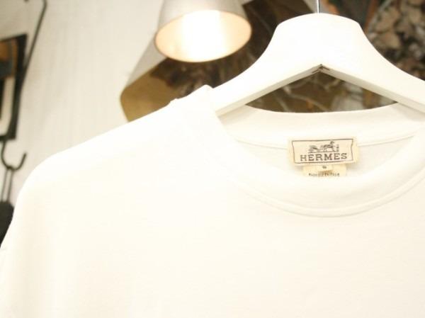 ちゃんとしたショップカード、作ります!! 入荷HERMES/エルメス リネンシャツ、ポケットTシャツ、Tシャツ_f0180307_01234340.jpg