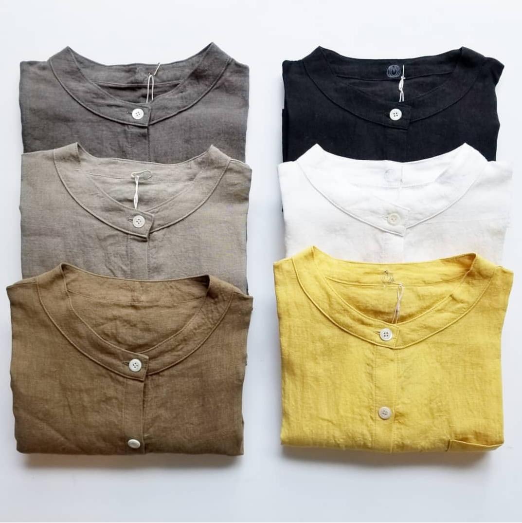ヤンマ産業 リネンスタンドカラーシャツ_f0120026_17513371.jpg
