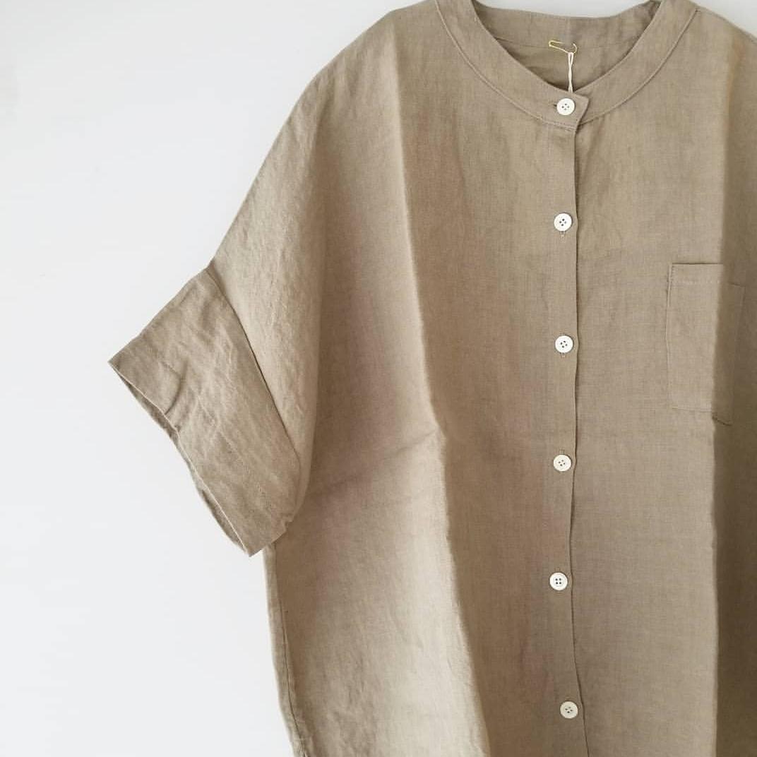 ヤンマ産業 リネンスタンドカラーシャツ_f0120026_17513390.jpg