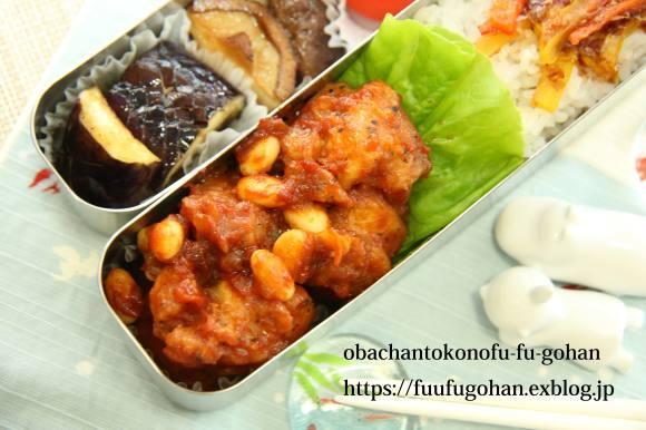 トリプルヨーグルト&鶏もも肉のトマトソース煮弁当_c0326245_11112414.jpg