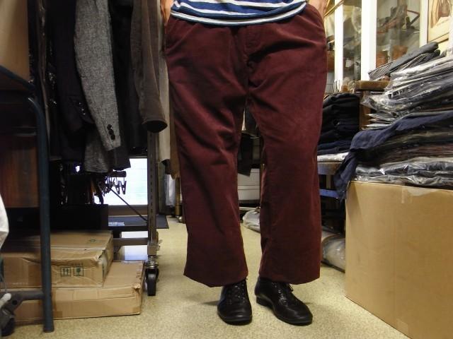 9月の製作 / DA corduroy easy pants_e0130546_18420512.jpg