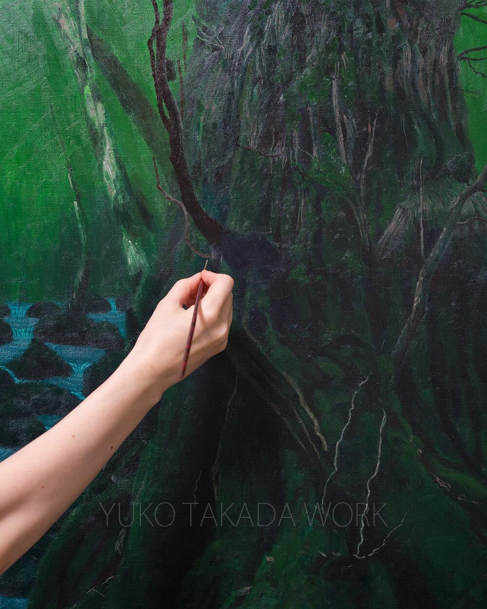 美穂野杉を描いています。_b0240382_22342461.jpg