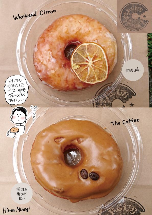 【用賀】サーカスドーナツのドーナツ2種【お高い〜】_d0272182_10300250.jpg
