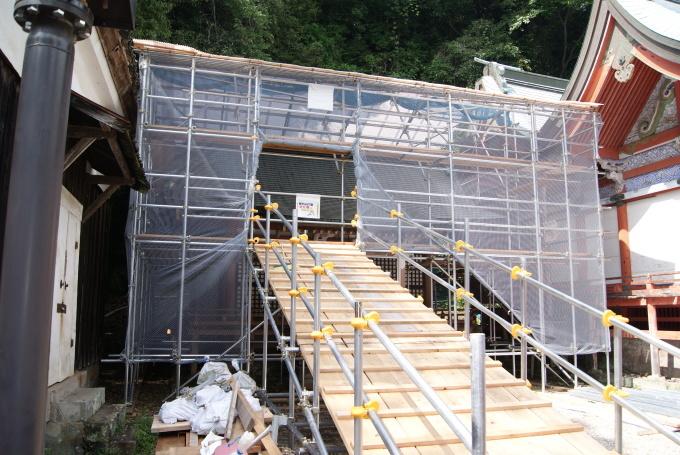 西宝殿足場組・素屋根設置 R1.07.29_f0191383_14121411.jpg