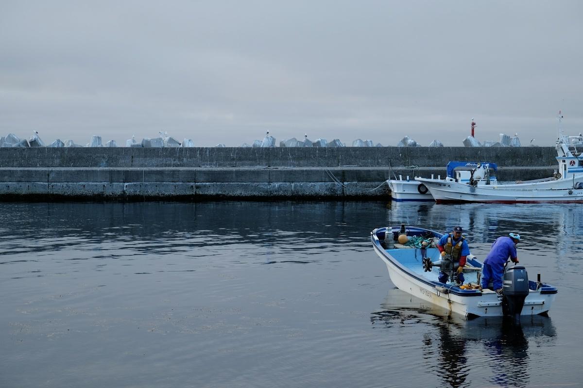 潮の香りがする朝の青い空気を吸いに来ました。_e0051186_09574902.jpg