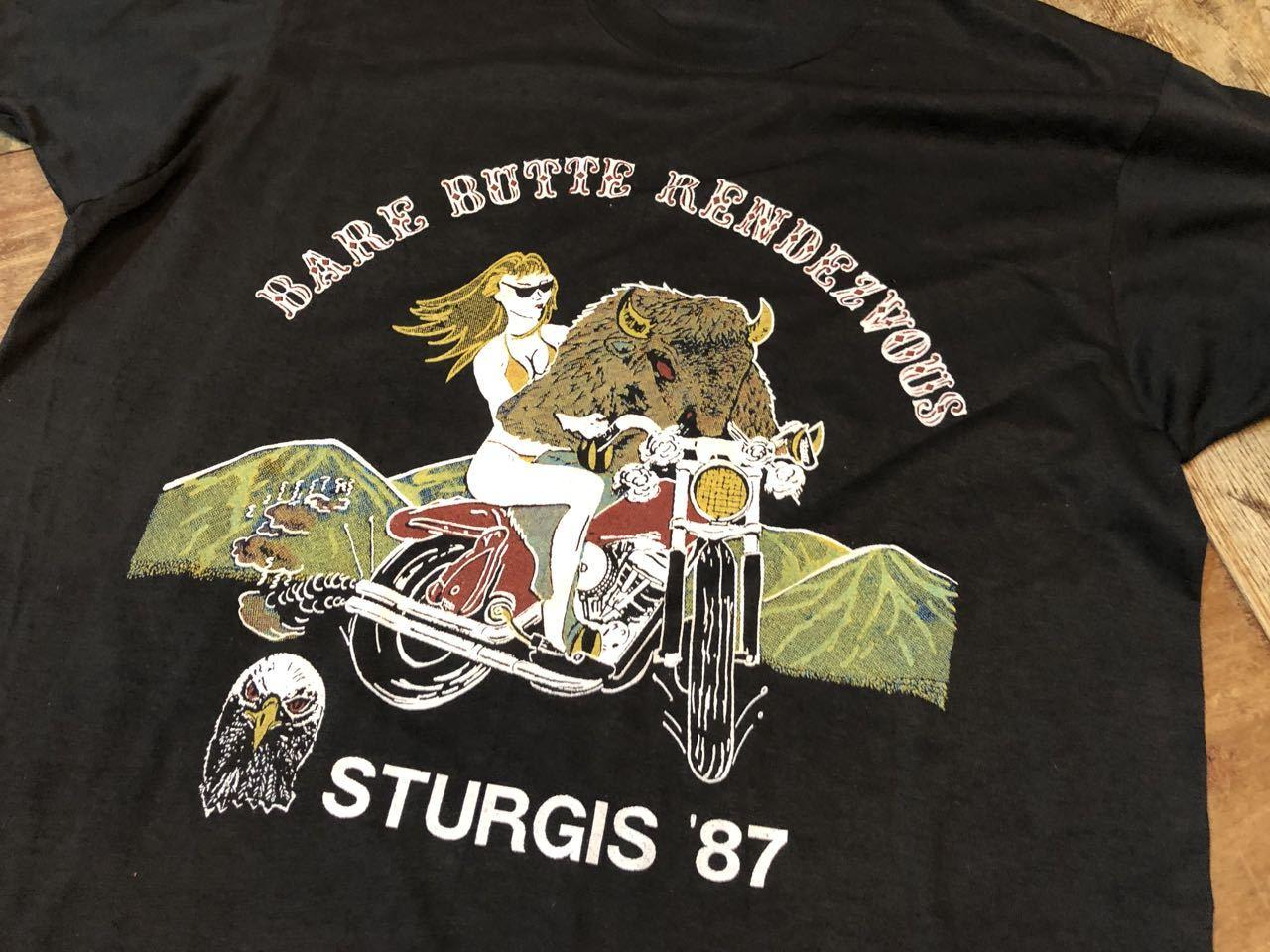 7月26日(土)入荷!デッドストック 80s STURGIS \'87  ハーレー バイクイベント Tシャツ!_c0144020_12401496.jpg