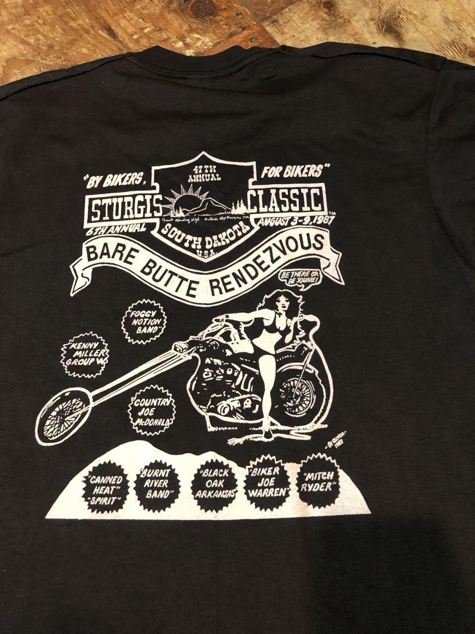 7月26日(土)入荷!デッドストック 80s STURGIS \'87  ハーレー バイクイベント Tシャツ!_c0144020_12401711.jpg