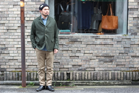 "「WORKERS」一押しのLoden Clothを使用した ""Lounge Jacket\"" ご紹介_f0191324_08193798.jpg"