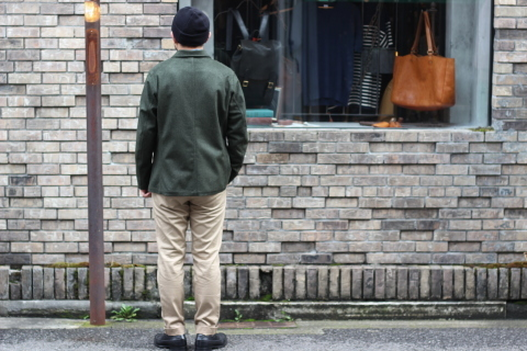 "「WORKERS」一押しのLoden Clothを使用した ""Lounge Jacket\"" ご紹介_f0191324_08194582.jpg"