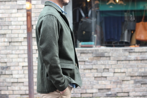 "「WORKERS」一押しのLoden Clothを使用した ""Lounge Jacket\"" ご紹介_f0191324_08200274.jpg"