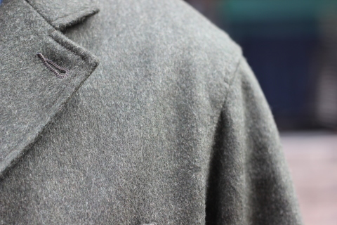 "「WORKERS」一押しのLoden Clothを使用した ""Lounge Jacket\"" ご紹介_f0191324_08202954.jpg"