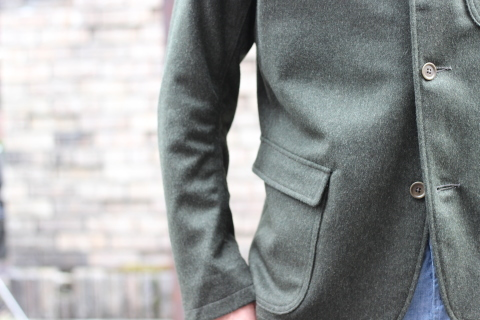 "「WORKERS」一押しのLoden Clothを使用した ""Lounge Jacket\"" ご紹介_f0191324_08204555.jpg"