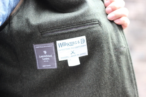 "「WORKERS」一押しのLoden Clothを使用した ""Lounge Jacket\"" ご紹介_f0191324_08205367.jpg"