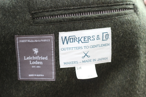 "「WORKERS」一押しのLoden Clothを使用した ""Lounge Jacket\"" ご紹介_f0191324_08210381.jpg"