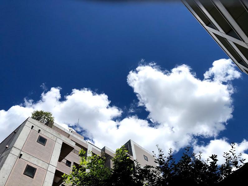 """《空と雲》青い空と、""""嬉しい!""""と、""""坂""""のおはなし_b0298740_13415091.jpg"""